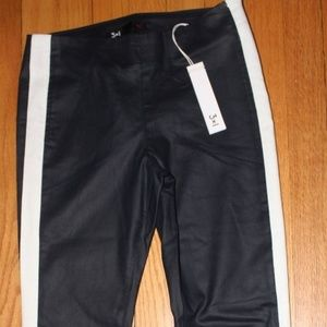 3X1 MIDRISE PETROL/WHITE MOTO SKINNY PANTS